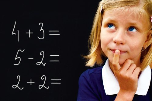 Brain changes in kids learning math