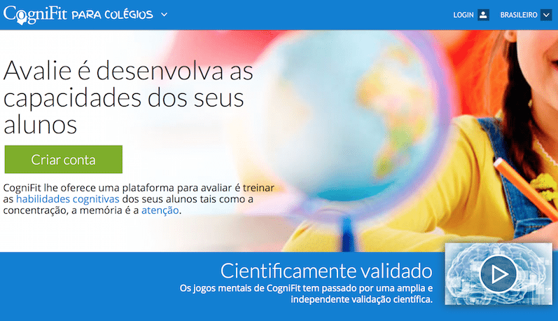 CogniFit's school platform is now available in Brazil