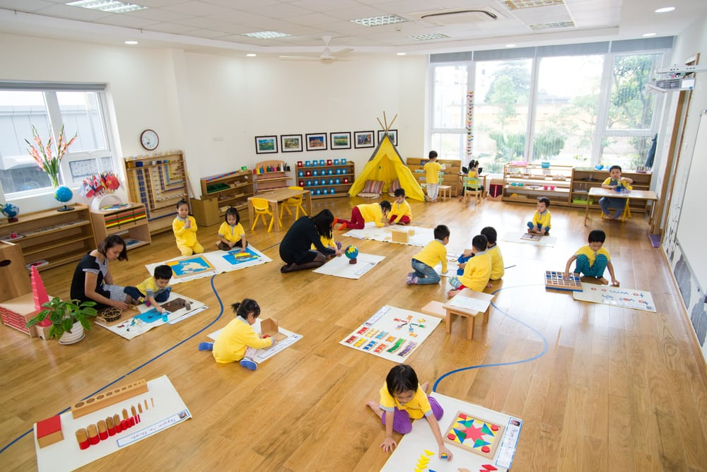 Montessori method in classroom use