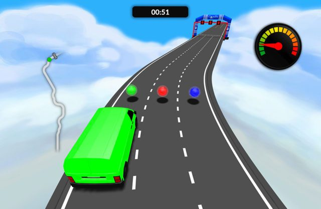 The aim of the game is to race the vehicle as fast as you can through the racetrack.